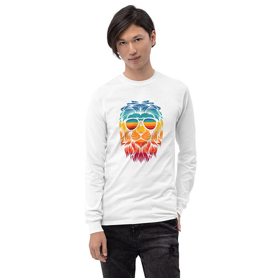 Lion by Funky Lemon Men's Long Sleeve Shirt