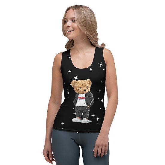 Teddy Bear by Funky Lemon Sublimation Cut & Sew Tank Top