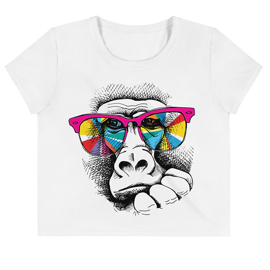Cool as Ape All-Over Print Crop Tee