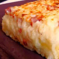 timballo di rso cotto al forno ai quattro formaggi. ricetta