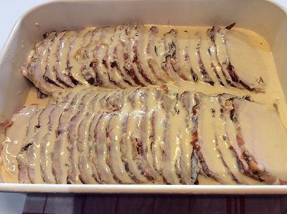 arrosto cotto al forno con crema di latte. ricetta
