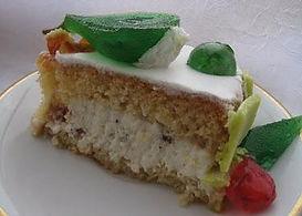 fetta di torta cassata siciliana