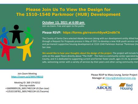 Parkmoor (HUB) Development Meeting - 10/13/2021