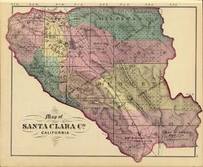 Thompson & West Santa Clara County Map 1876