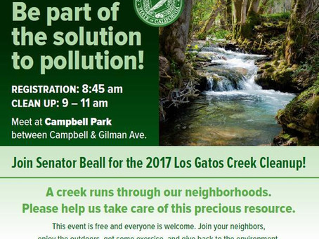 Senator Jim Beall's Annual Creek Cleanup