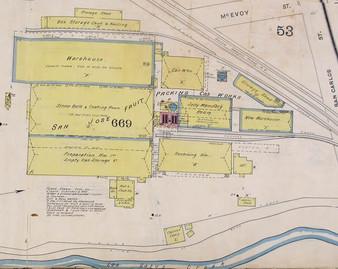 1891-1901 Sanborn Insurance Map San Jose Fruit Packing
