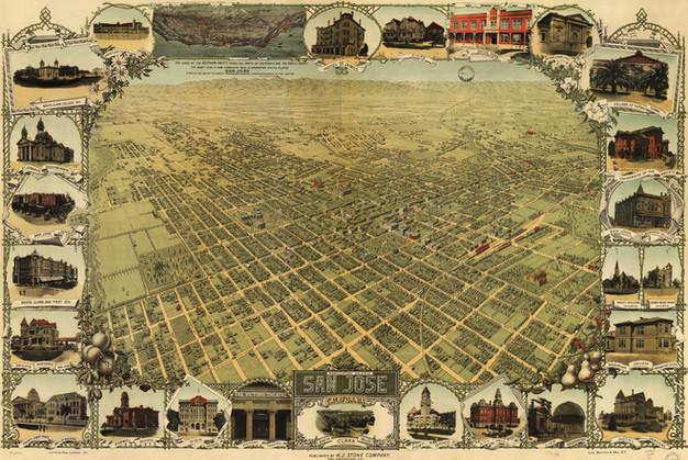 1901 Birdseye Map