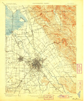 1895 San Jose Area Topographic Map