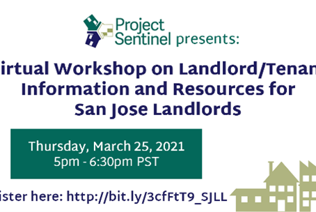 Virtual Workshop for San Jose Landlords