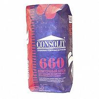 Клей плиточный consolit 660, клей для керамогранита consolit 660, консолит 660.