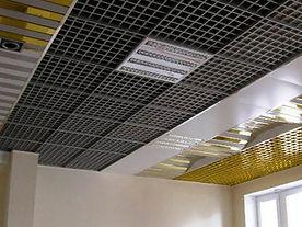 Подвесной потолок грильято, подвесной потолок албес грильято разноуровневый.