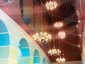 реечный потолок албес итальянского дизайна