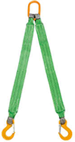 Строп текстильный двухветвевой, строп двухветвевой, строп 2ст.