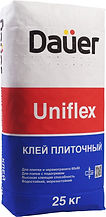 клей плиточный uniflex dauer, клей dauer, клей для плитки, плиточный клей дауер,