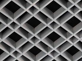 Подвесной потолок Грильято c нестандартной ячейкой, подвесной потолок албес Грильято c нестандартной ячейкой.