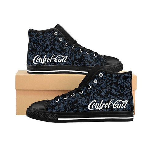 Subliminal Propaganda Control Cult Men's High-top Sneakers