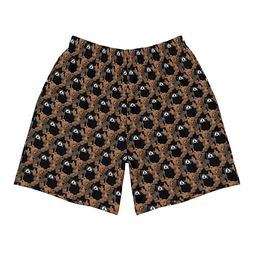 Subliminal Propaganda Teddy Bear Men's Athletic Long Shorts