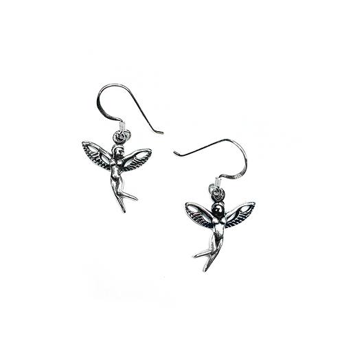 Sterling Silver 925 Fairy Earrings