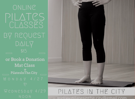 This Week: Your Life. Your Day. Choose when you want an online Mat Class:)