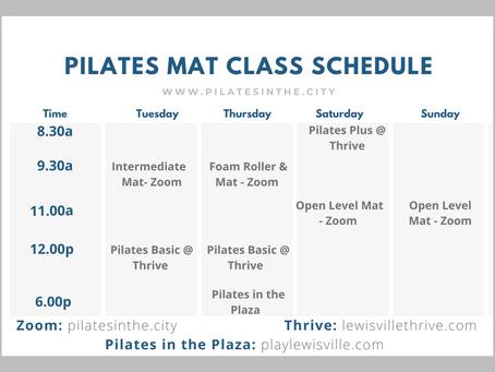 New Summer 2021 Mat Classes