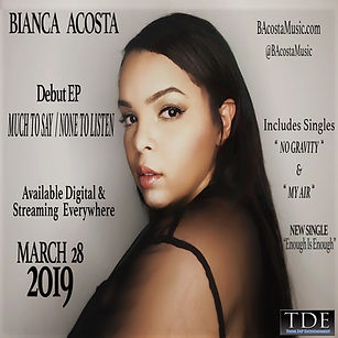 Bianca Acosta singe songwriter new EP Much To Say None To Listen MTSNTL