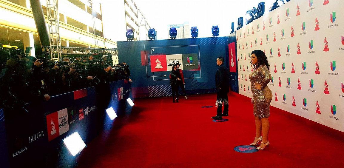 Urban Latin Pop  Singer Bianca Acota at the Latin Grammy Awards walking the red carpet
