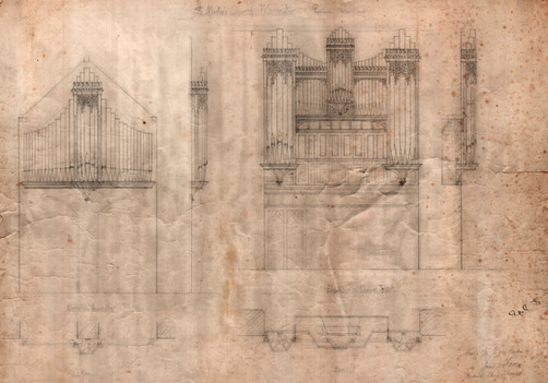 Organ case drawing