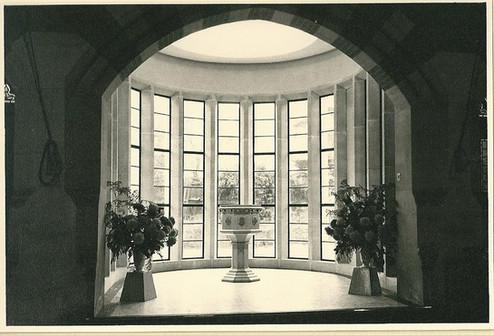 new baptistry, 1962, inside