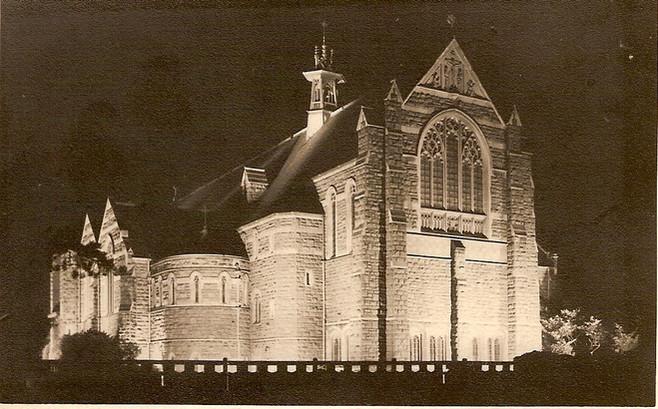 Church floodlit