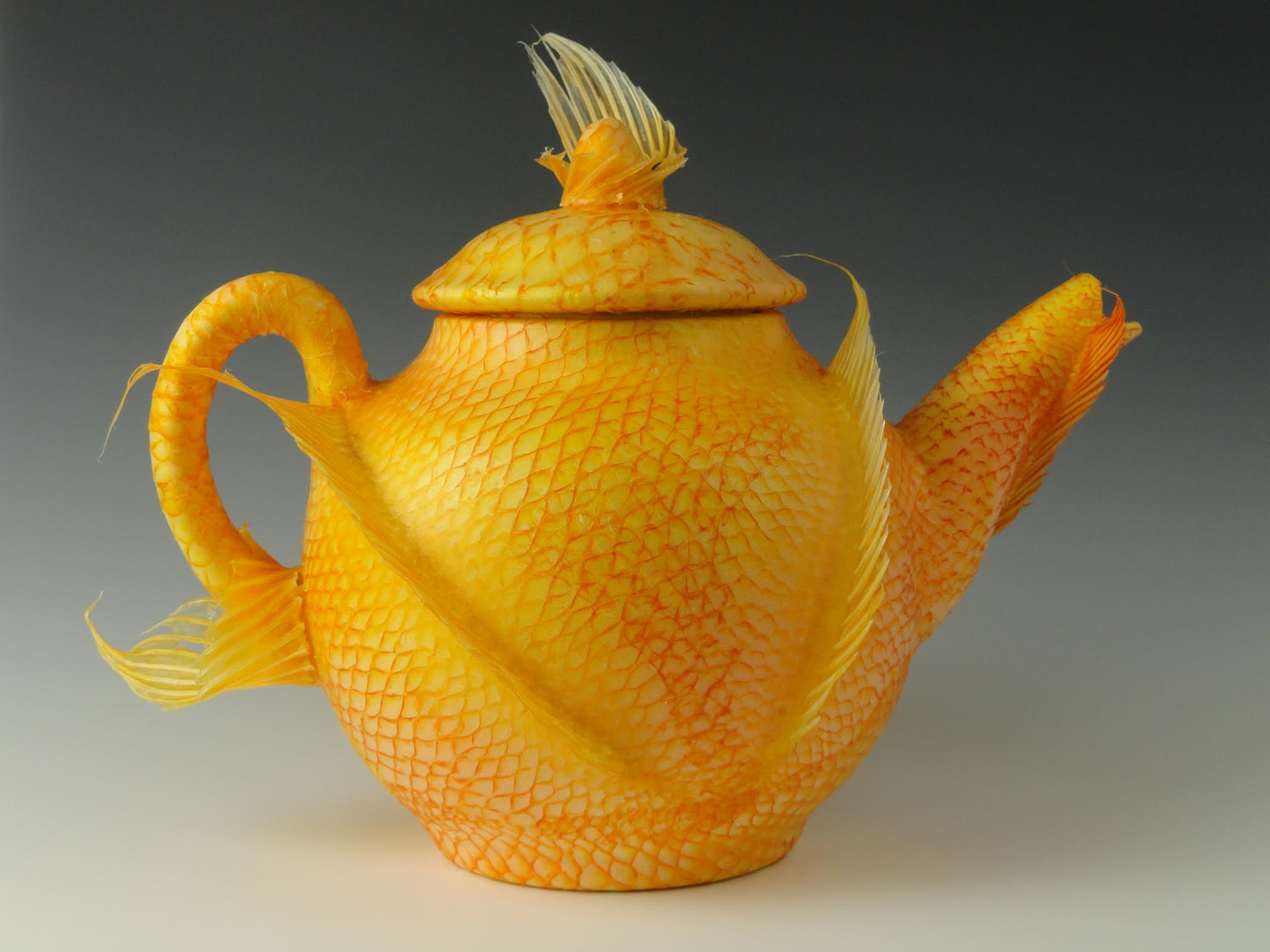 Golden Tilapia Teapot