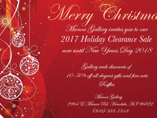 Manoa Gallery 2017 Holiday Clearance Sale