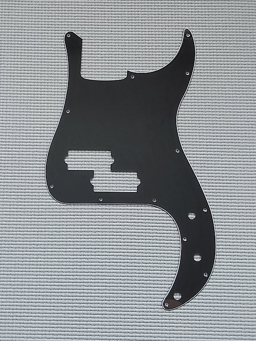 P Type Pickguard 3 Plys - 13 Holes (Black)