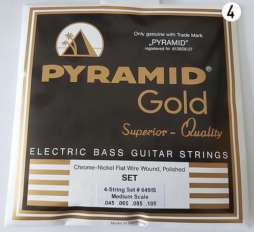 """Pyramid 4 Strings Set Flatwound - 32"""" Scale 