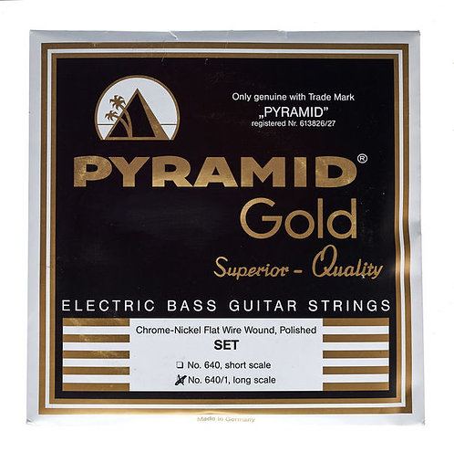 """Pyramid 4 Strings Set Flatwound - 32"""" Scale   .040 .060 .080 .100  """