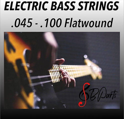 "Black Silk Flatwound Strings  32"" Scale 0.45 0.65 0.80 .100"