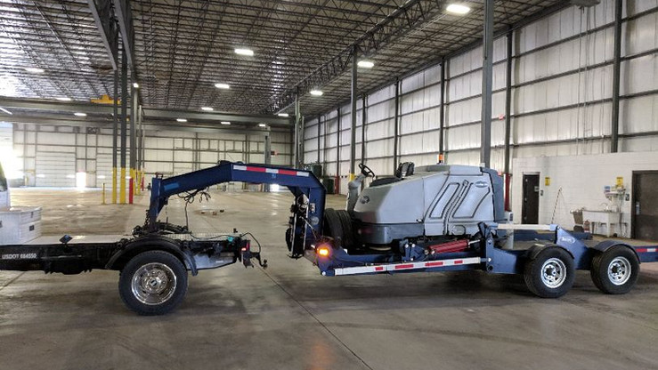 Ride on propane powered sweeper / scrubber