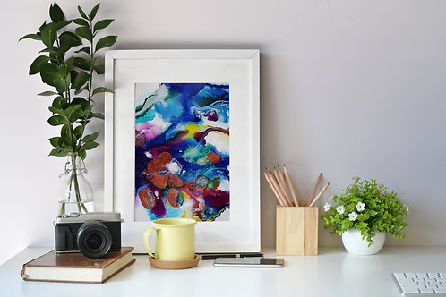 Flow Moments No.3 A4 Eco Fine Art Print