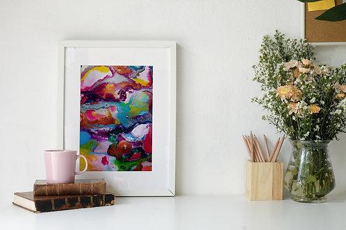 Flow Moments No.6 A4 Eco Fine Art Print