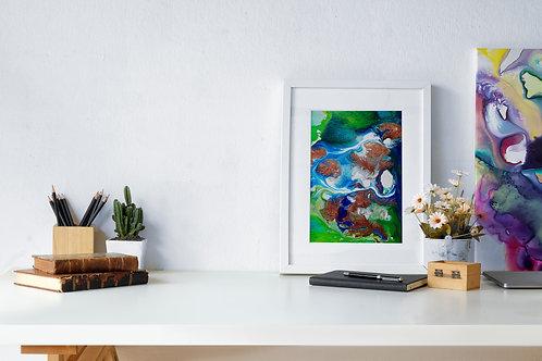 Flow Moments No.4 A4 Eco Fine Art Print