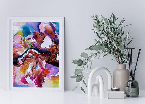 Flow Moments No.1 A4 Eco Fine Art Print