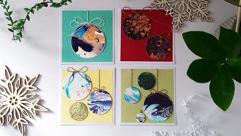 Square Handmade Bauble Card Set 1