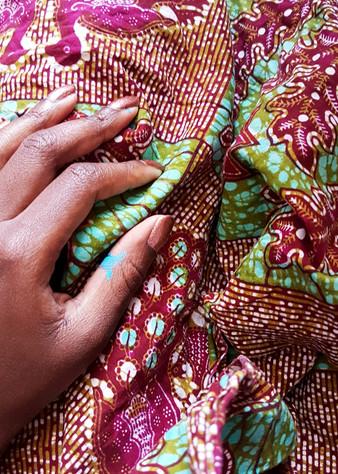 Ghanaian Cloth & Painted Hands, Ghana 2017