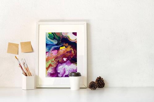 Flow Moments No.5 A4 Eco Fine Art Print