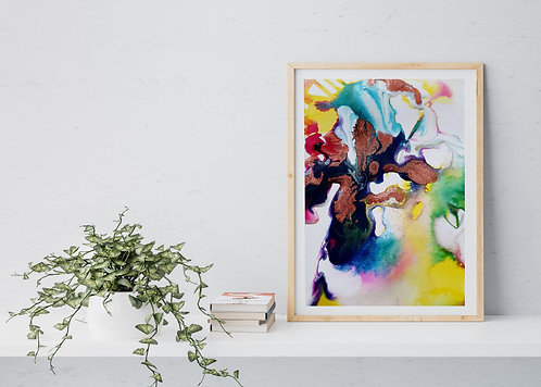 Flow Moments No.2 A4 Eco Fine Art Print