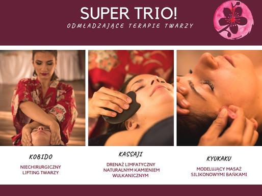 SUPER TRIO, czyli sekret naturalnych terapii twarzy.