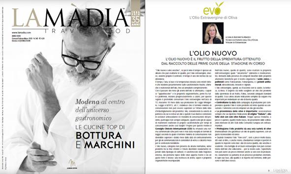 L'olio nuovo - La Madia Travelfood n° 343 - gen-feb-mar 2020 - a cura di Antonietta Mazzeo