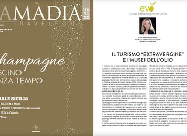 """Il turismo """"extravergine"""" e i musei dell'olio - La Madia Travelfood n° 342- nov-dic2019 - a cura d"""