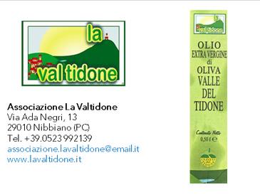 Olio extravergine di oliva Valle del Tidone - Associazione La Valtidone - campagna olearia 2018