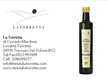 Olio extravergine di oliva Valle del Tidone - Selezione Antichi Ulivi - La Torretta - campagna olear