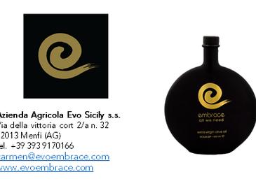 Embrace - All we need - Olio Extra Vergine di Oliva- Sicilia IGP - Campagna olearia 2019 - Az. Agr.